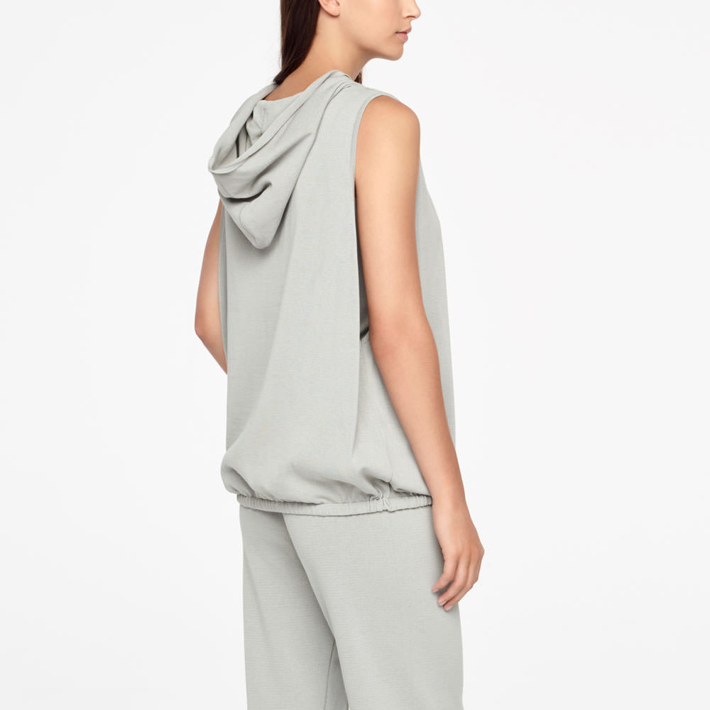 Sarah Pacini URBAN HOODIE - SLEEVELESS Back view