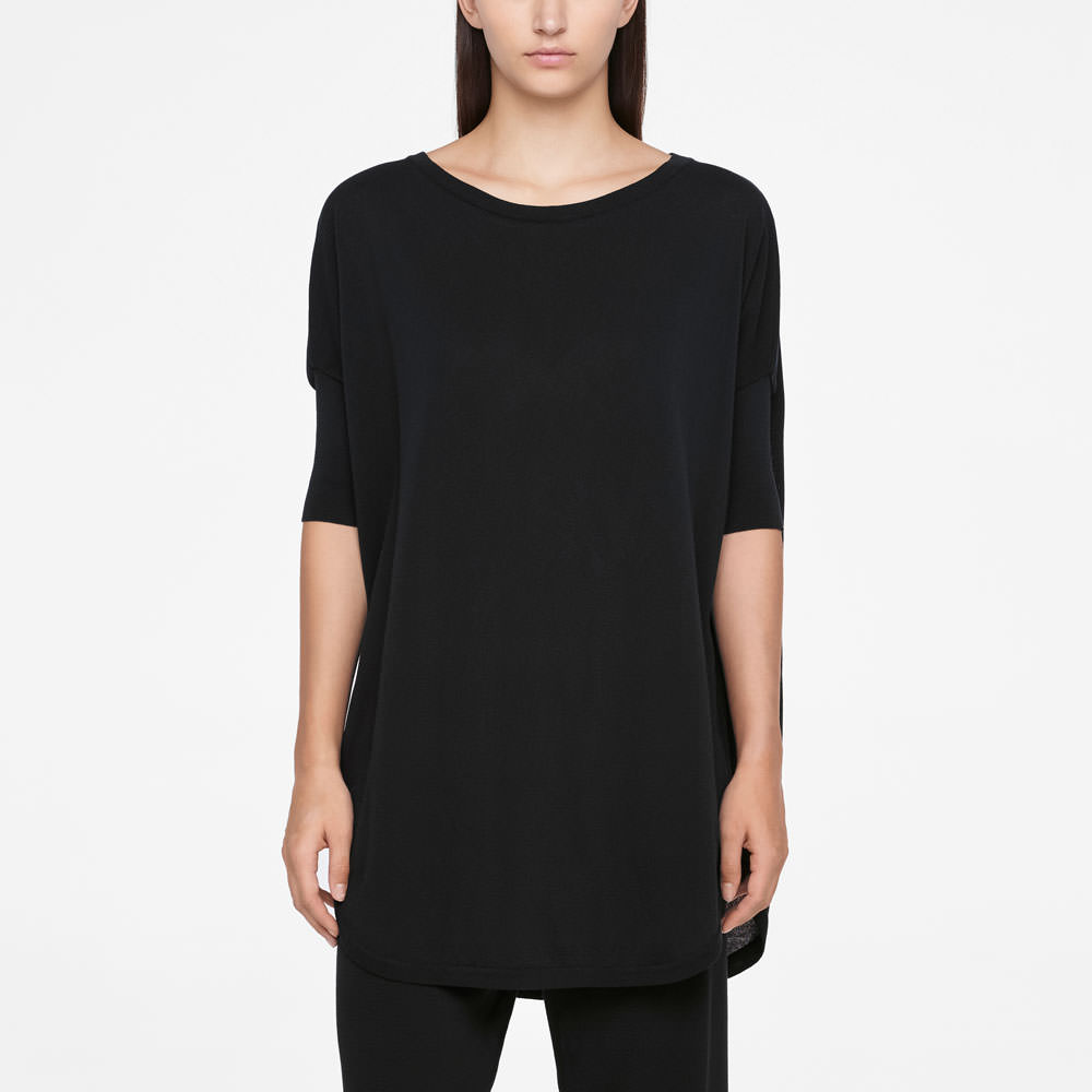 Sarah Pacini URBAN SWEATER - HALF SLEEVES Front