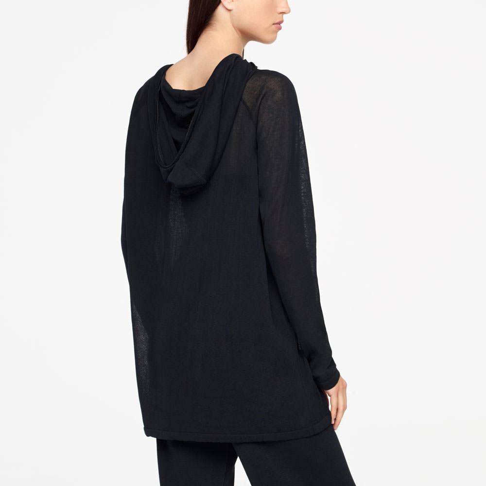 Sarah Pacini URBAN HOODIE - ZIPPER NECKLINE Back view