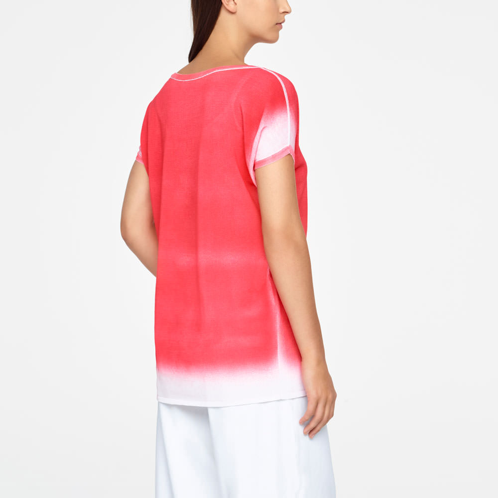 Sarah Pacini GRADIENT SWEATER - CAP SLEEVES Back view