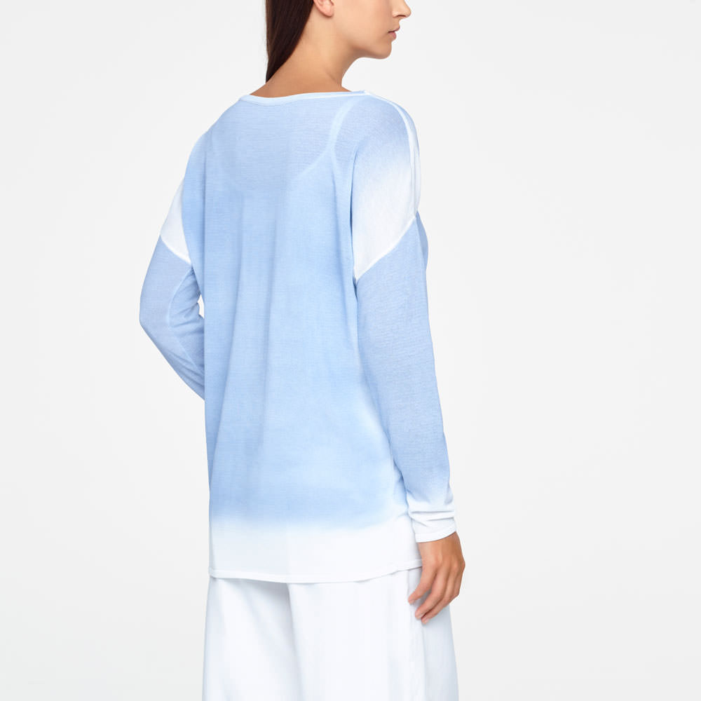 Sarah Pacini GRADIENT SWEATER Back view