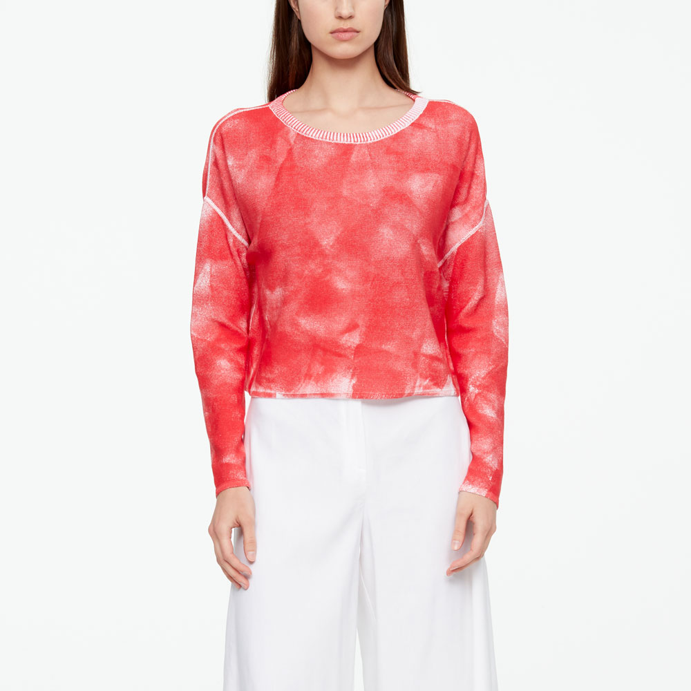 Sarah Pacini TIE-DYE SWEATER - FULL SLEEVES Front