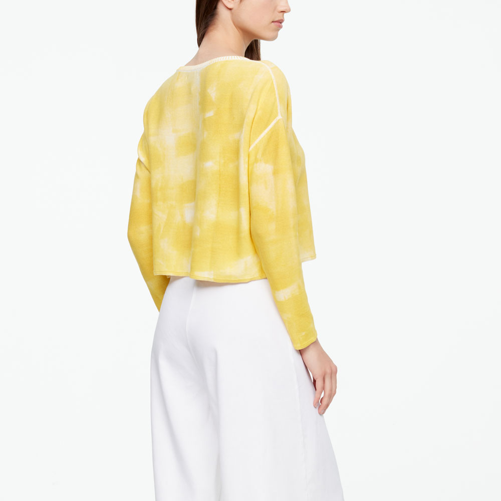 Sarah Pacini TIE-DYE SWEATER - FULL SLEEVES Back view