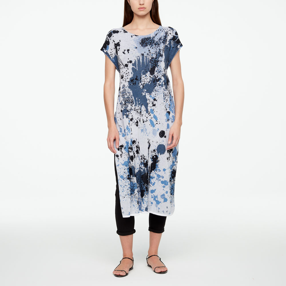 Sarah Pacini MURAL DRESS -SLIT Front