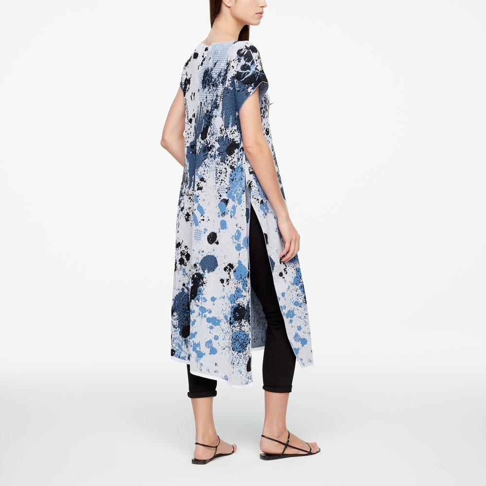 Sarah Pacini MURAL DRESS -SLIT Back view