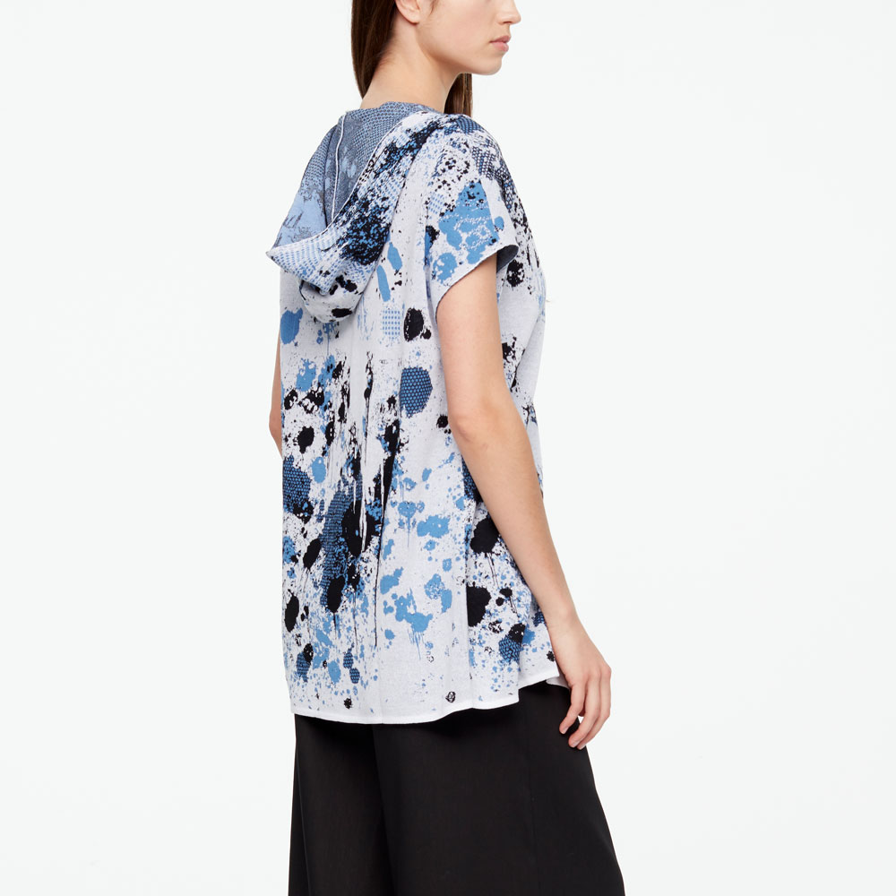 Sarah Pacini MURAL CARDIGAN - CAP SLEEVES Back view