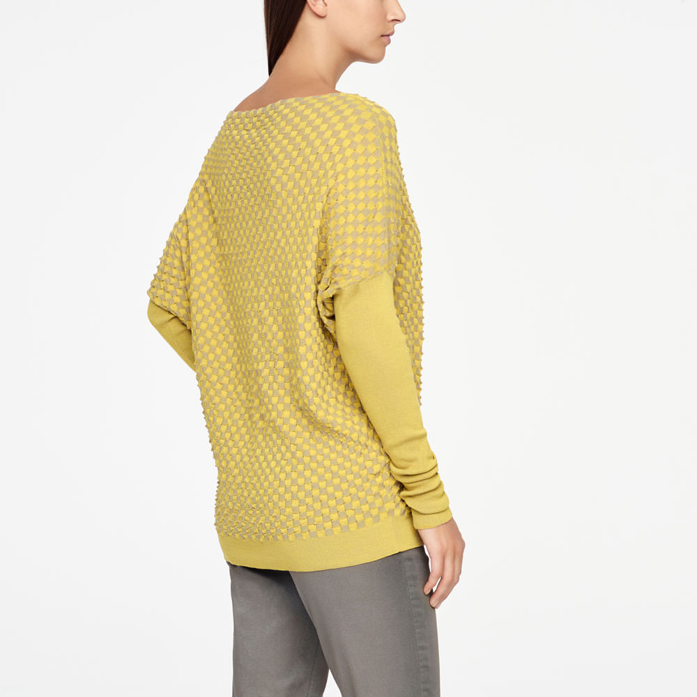 Sarah Pacini LONG SWEATER - DAMIER Back view