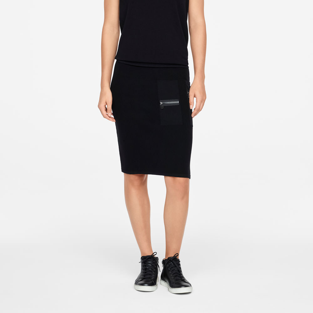 Sarah Pacini PENCIL SKIRT - ZIPPER DETAILS Front