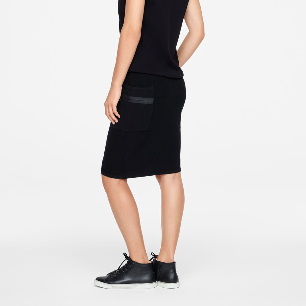 Sarah Pacini PENCIL SKIRT - ZIPPER DETAILS Back view
