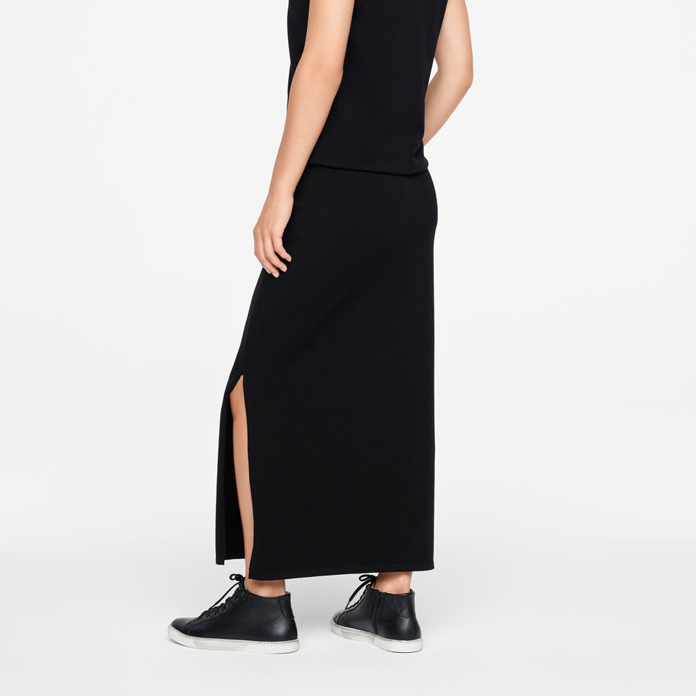 Sarah Pacini MAXI SKIRT - SIDE SLIT Back view