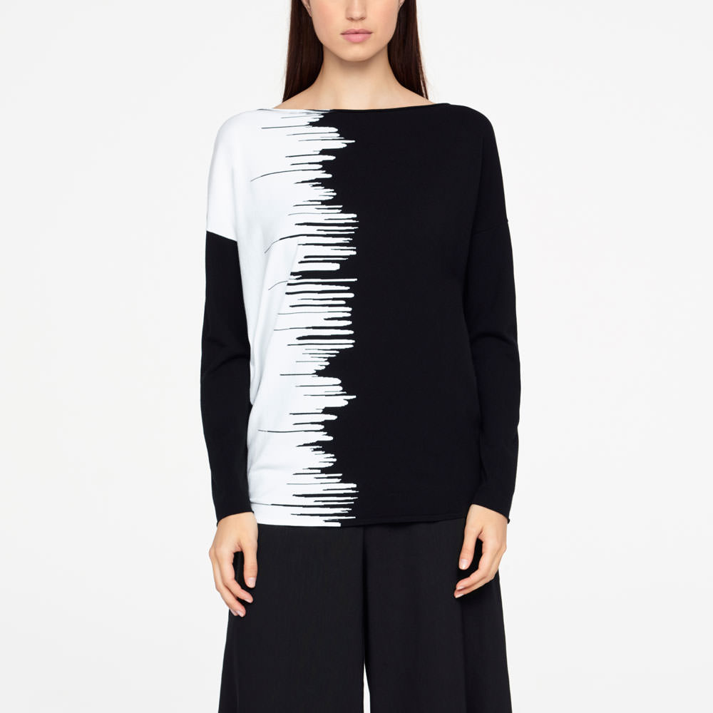 Sarah Pacini GRAPHIC SWEATER - FULL SLEEVES Front