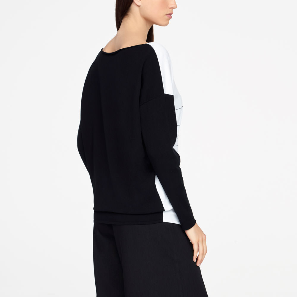 Sarah Pacini GRAPHIC SWEATER - FULL SLEEVES Back view