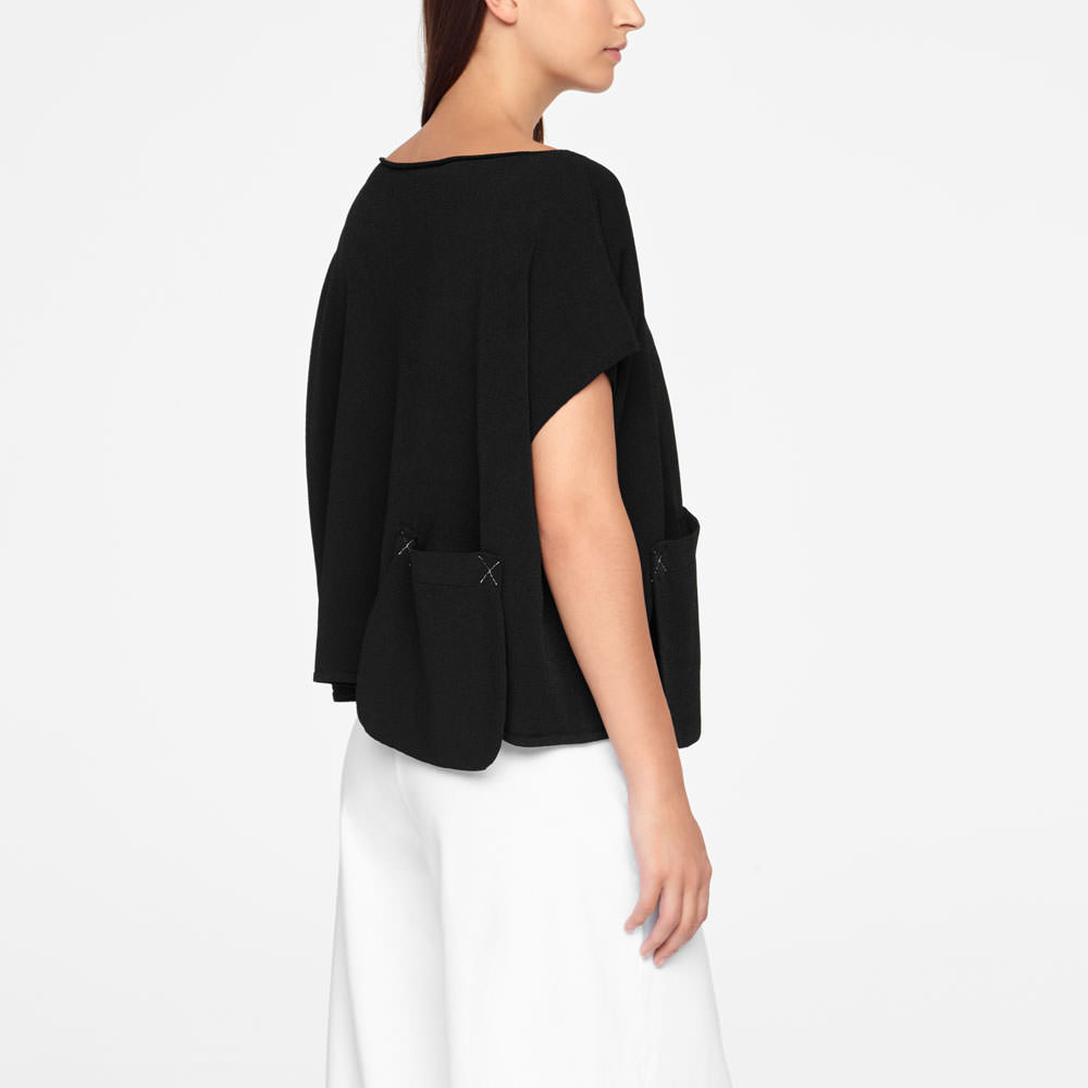 Sarah Pacini SWEATER - CAP SLEEVES Back view