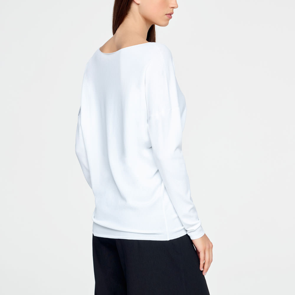 Sarah Pacini LIGHT SWEATER - FULL SLEEVES Back view