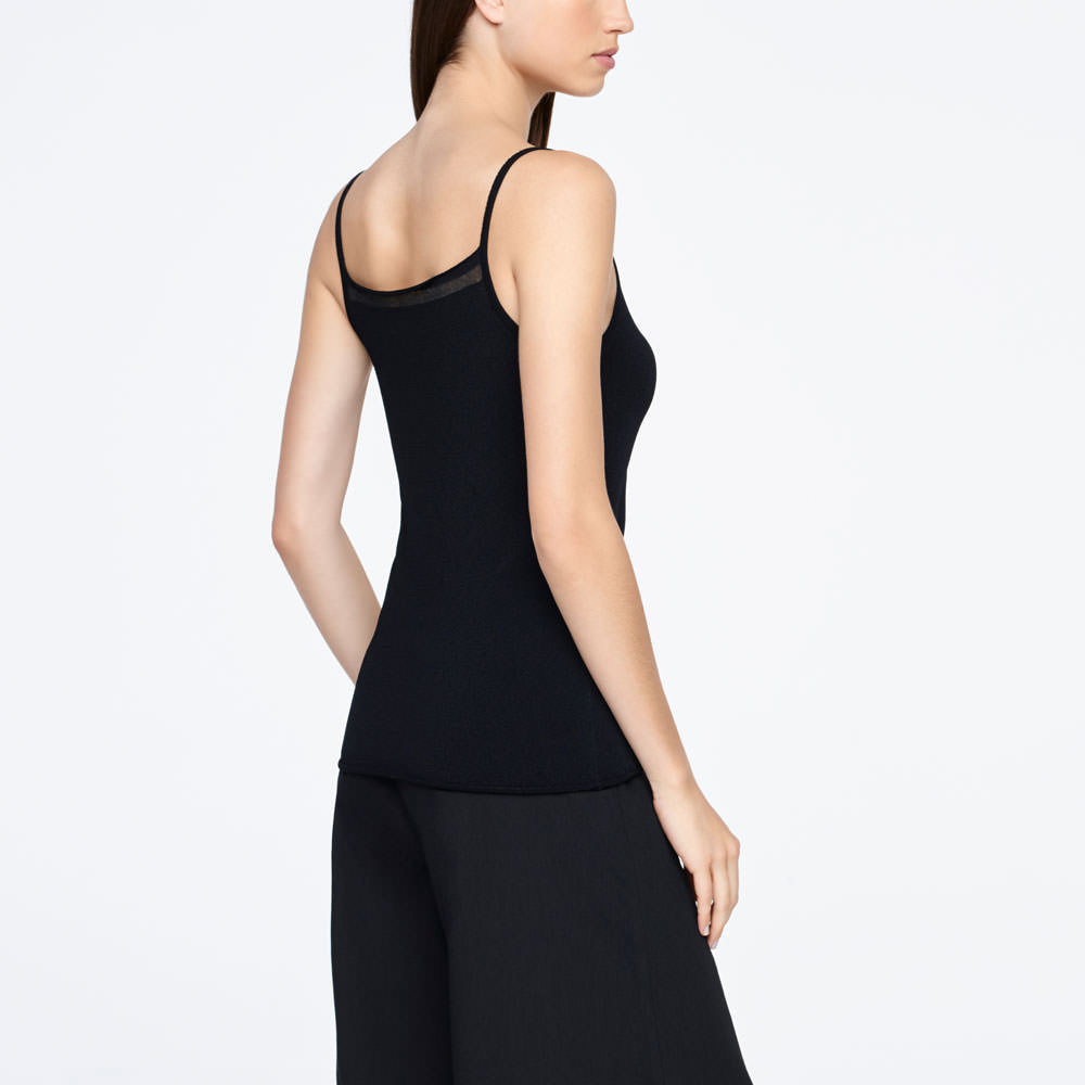 Sarah Pacini SWEATER - SLEEVELESS Back view
