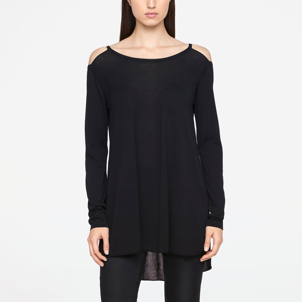 Sarah Pacini LONG SWEATER - MAKO COTTON Front
