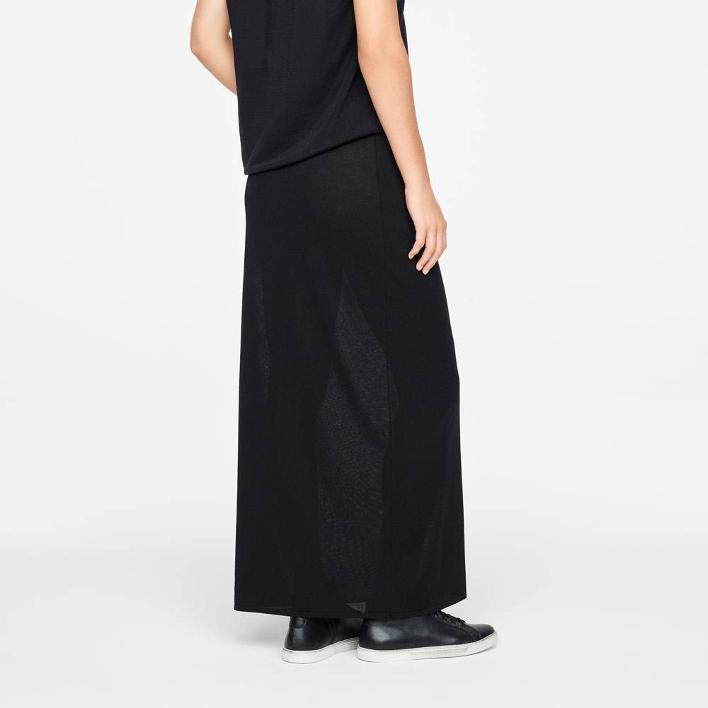 Sarah Pacini MAXI SKIRT - MAKO COTTON Back view
