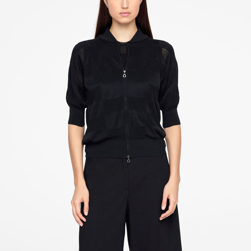 Sarah Pacini ZIPPERED CARDIGAN Front