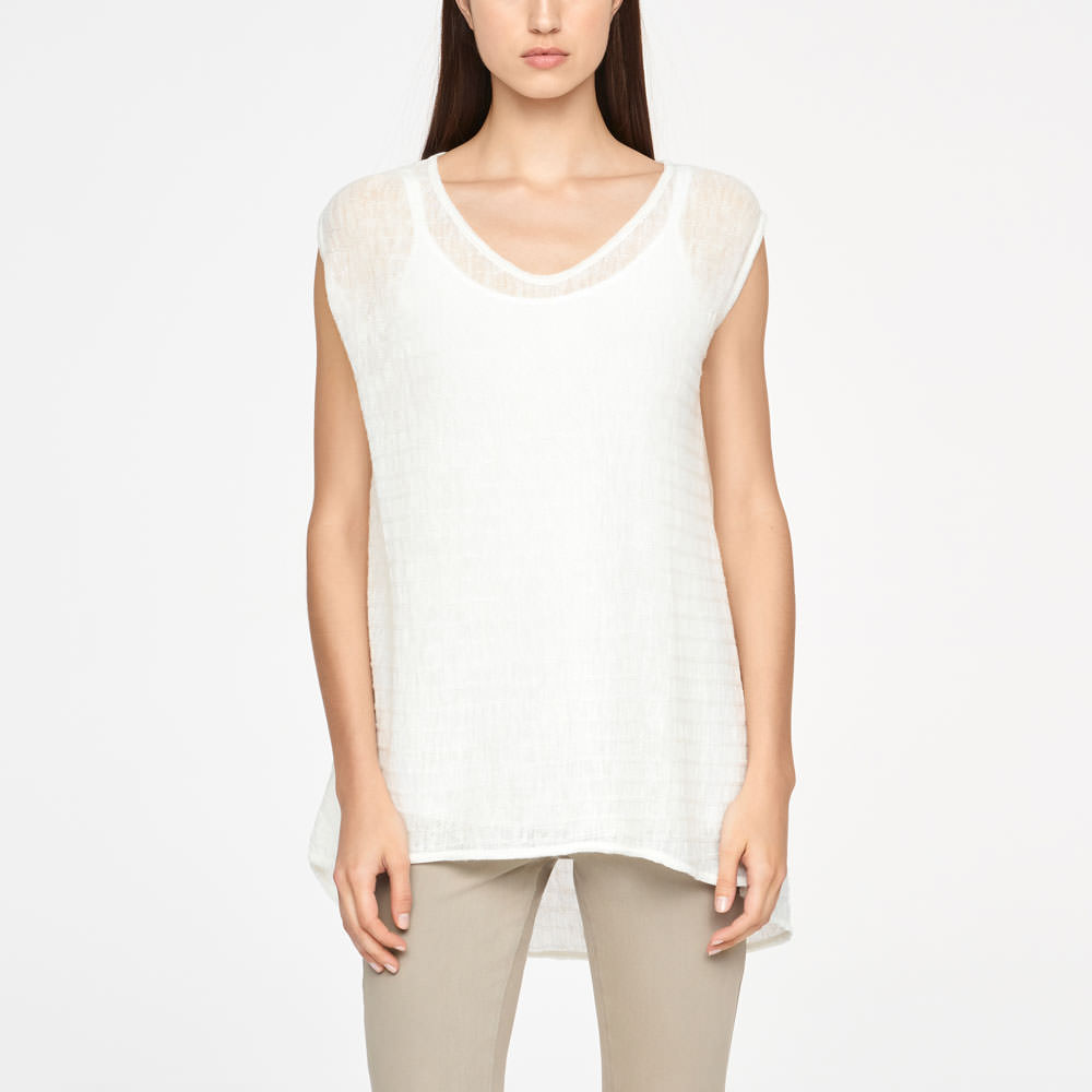 Sarah Pacini LINEN SWEATER - STRIPED Front
