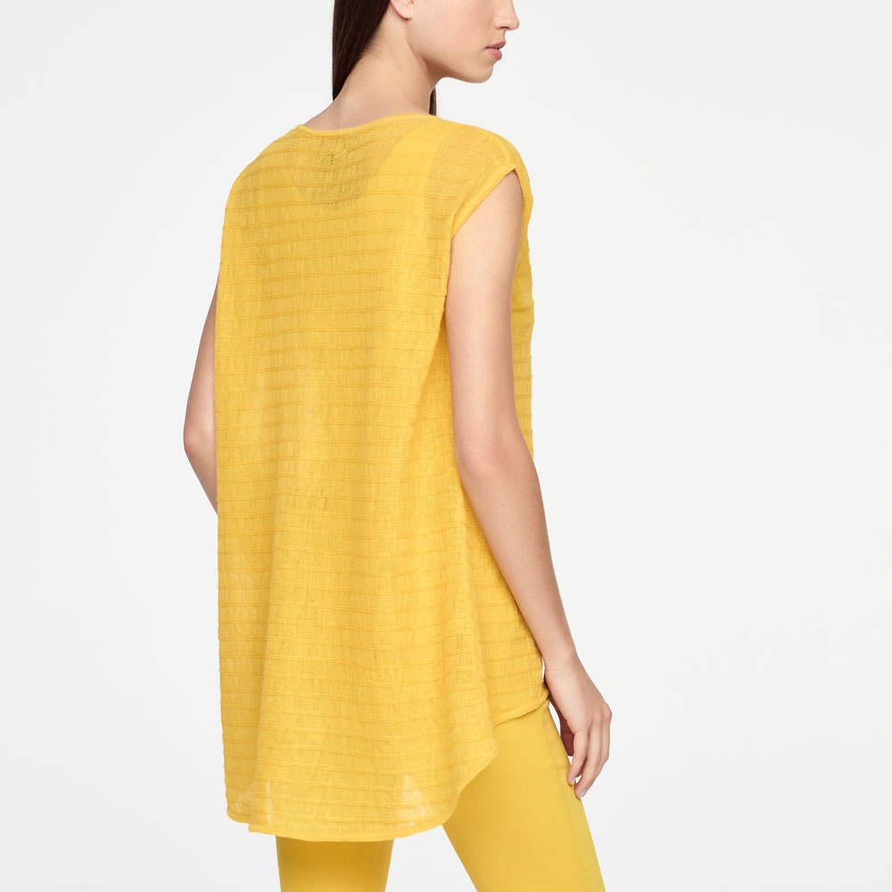 Sarah Pacini LINEN SWEATER - STRIPED Back view