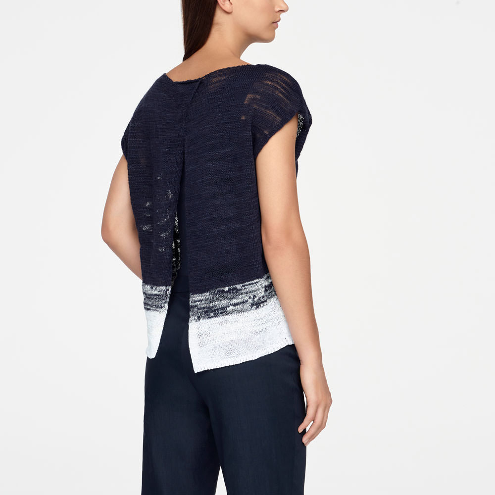 Sarah Pacini OMBRE SWEATER - CAPPED SLEEVES Back view