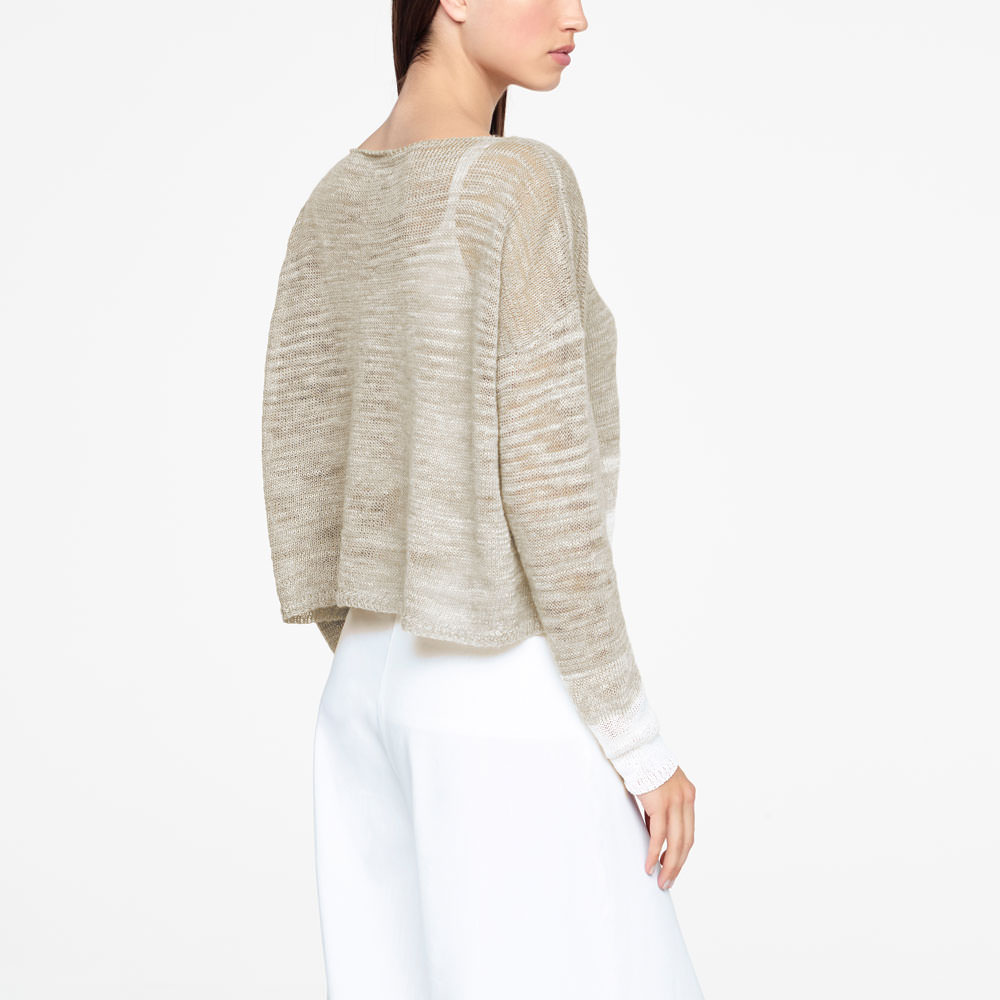 Sarah Pacini OMBRE SWEATER - SIDE SLITS Back view