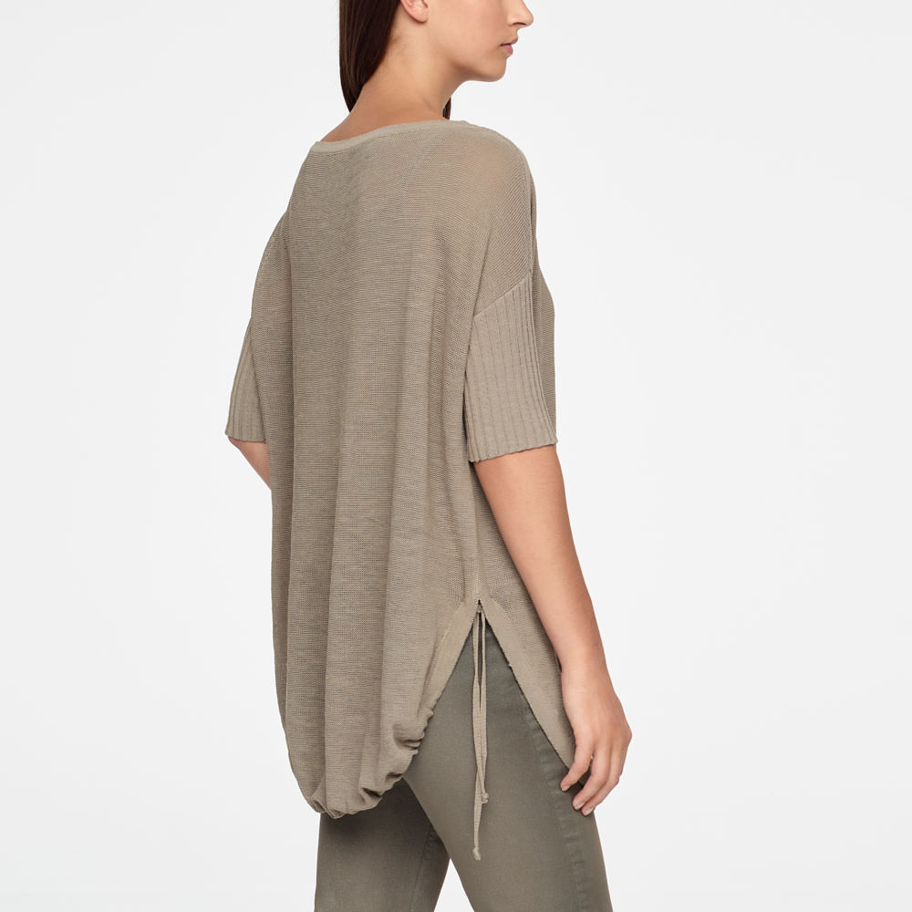 Sarah Pacini SWEATER - PATCH POCKETS Back view