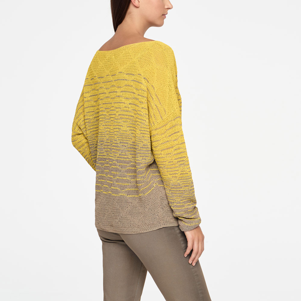 Sarah Pacini LINEN SWEATER - BOATNECK Back view
