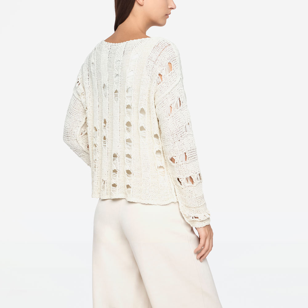 Sarah Pacini SWEATER - OPENWORK Back view