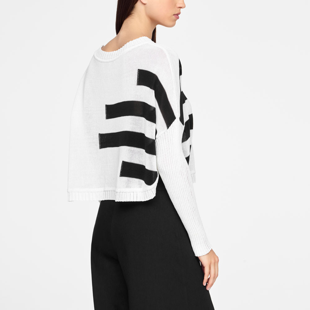 Sarah Pacini SHORT SWEATER - ORGANIC COTTON Back view