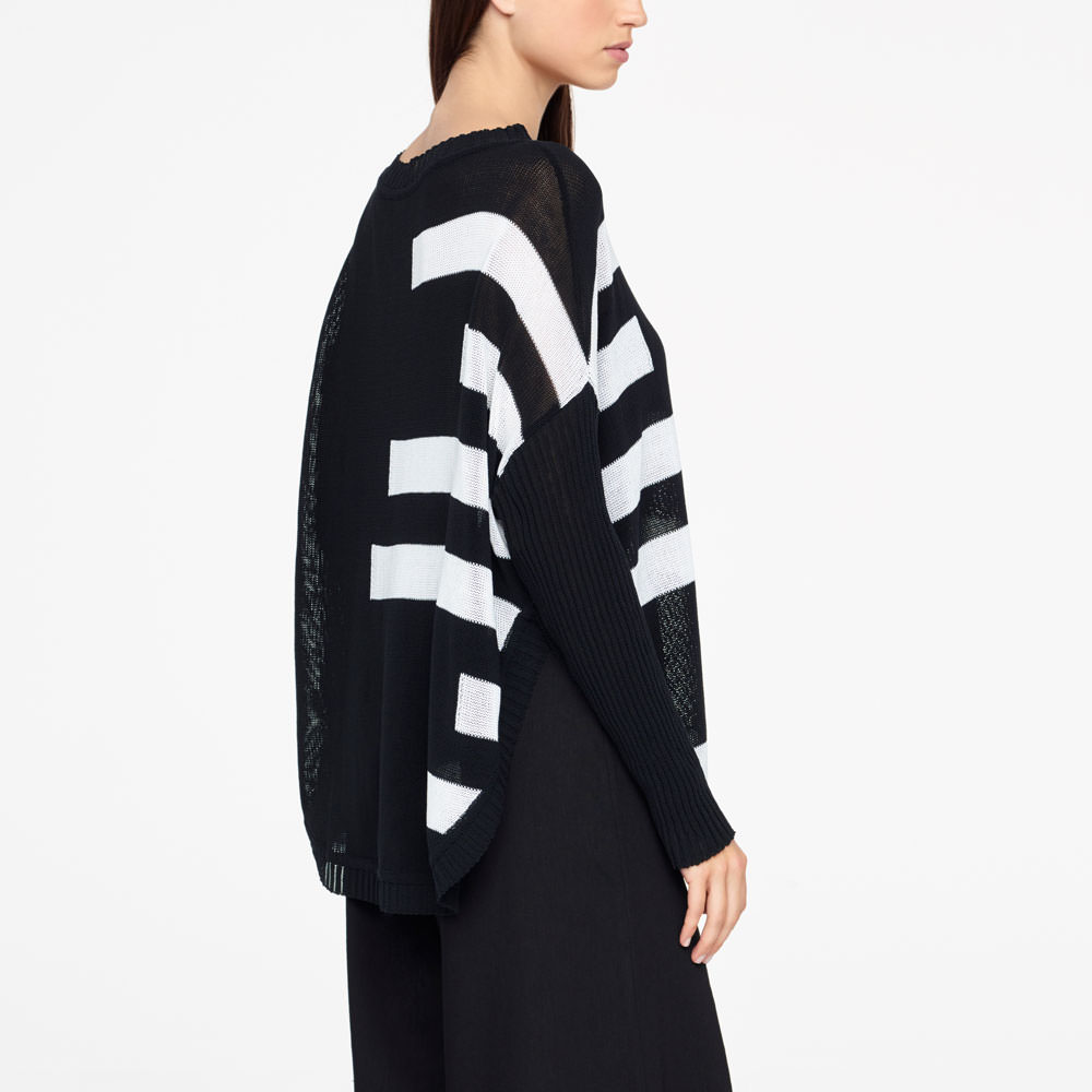 Sarah Pacini LONG SWEATER - ORGANIC COTTON Back view