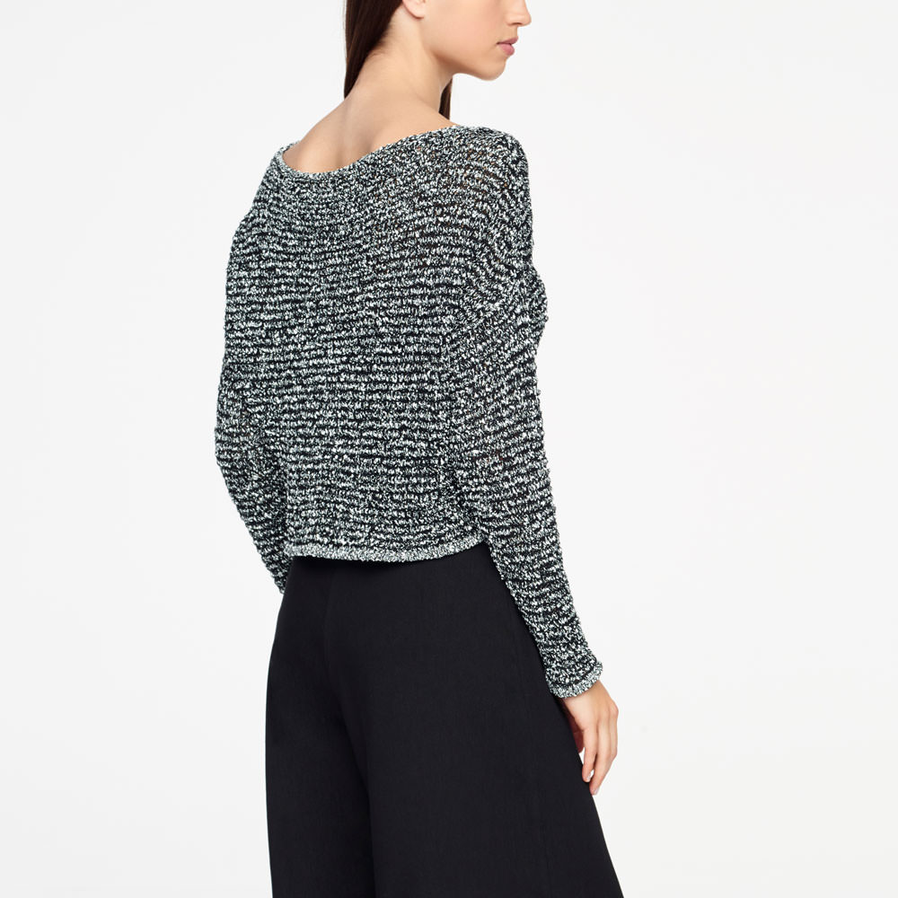 Sarah Pacini CHINÉ SWEATER - CROPPED Back view