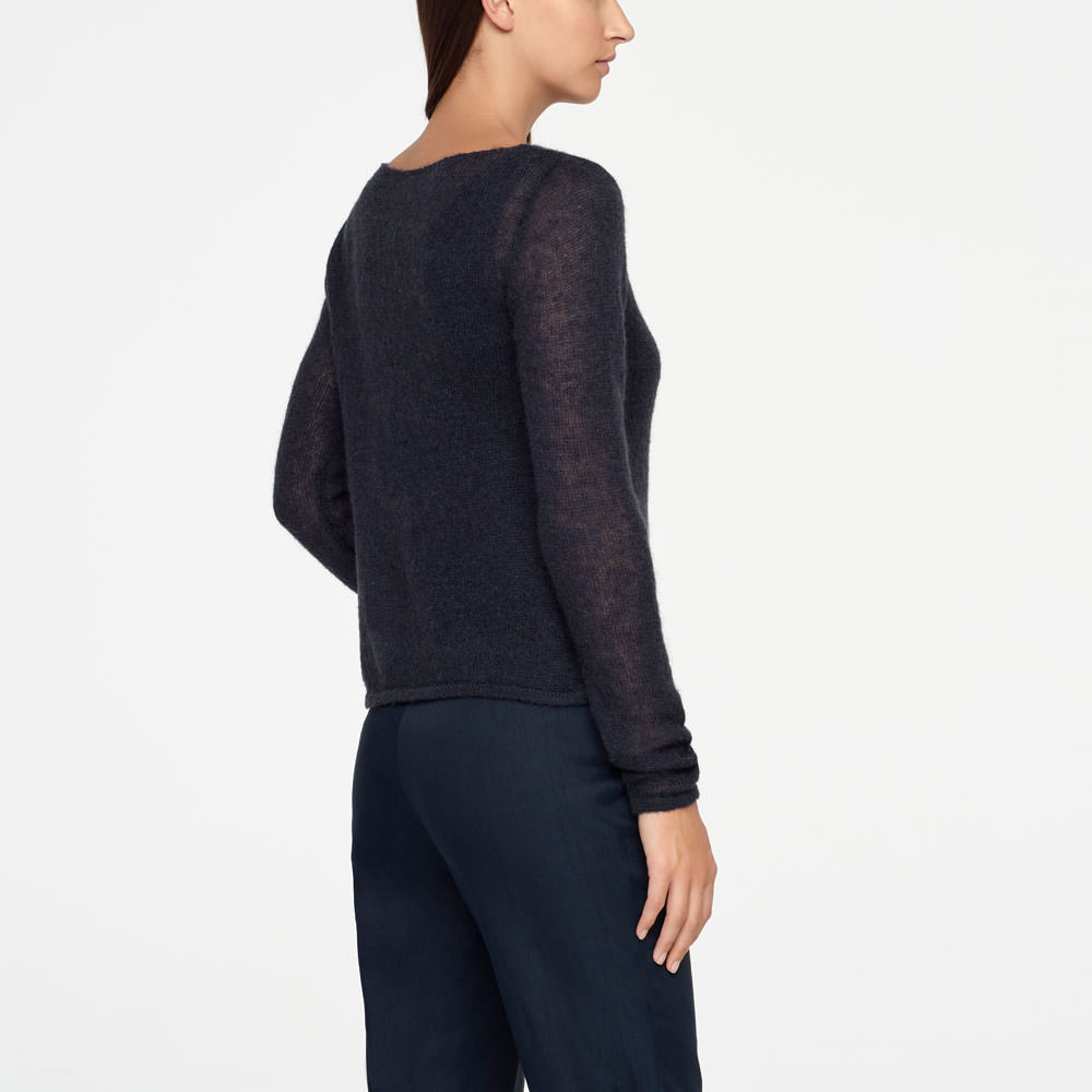 Sarah Pacini MOHAIR SWEATER Back view