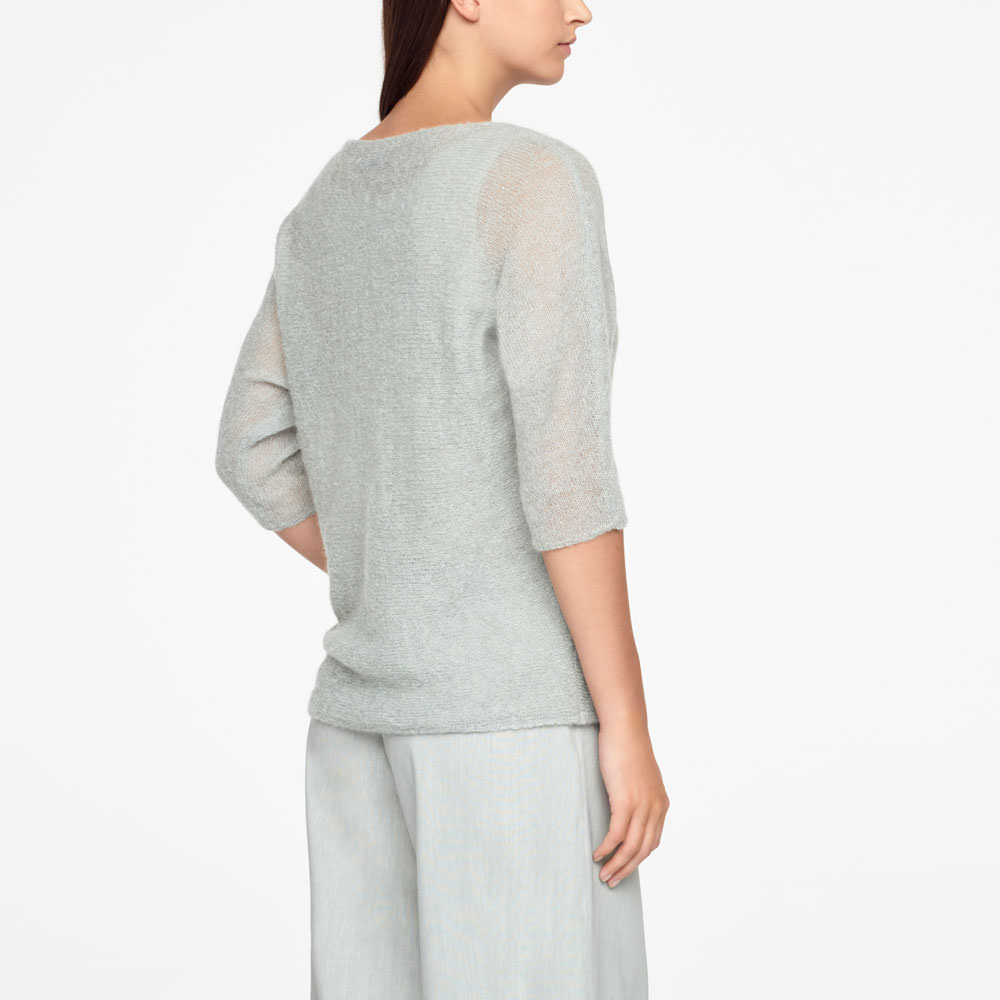 Sarah Pacini MOHAIR SWEATER - HALF SLEEVES Back view