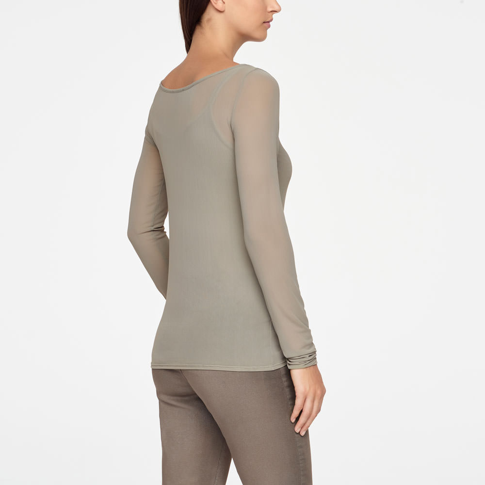 Sarah Pacini TRANSLUCENT TOP - ZOÉ Back view