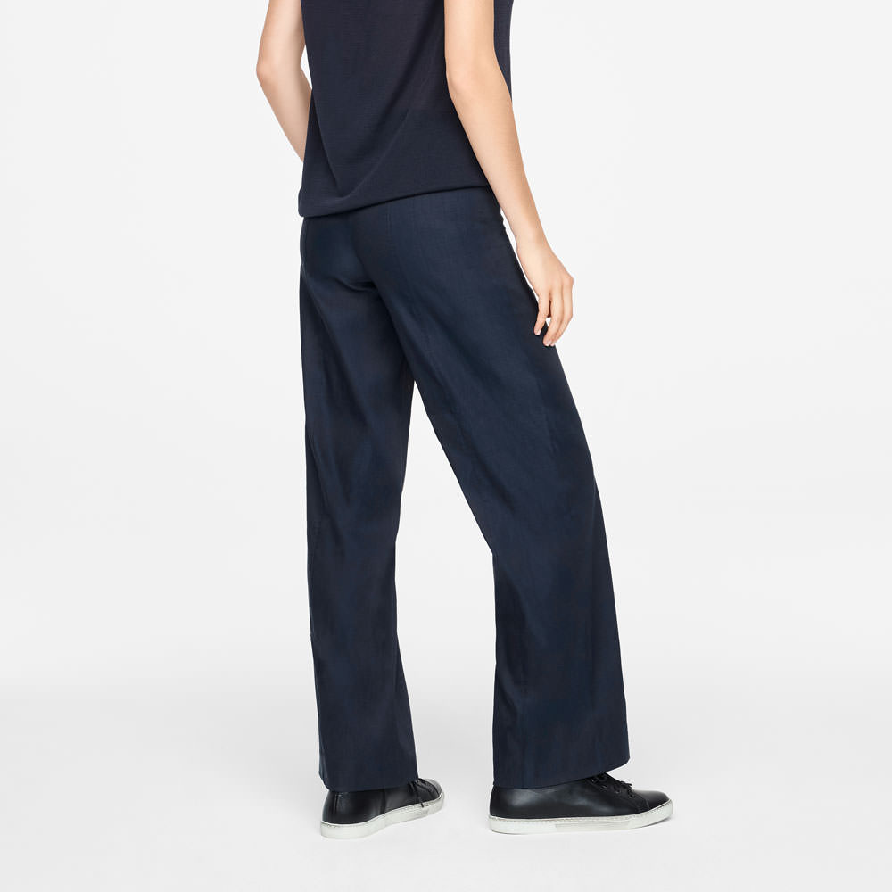Sarah Pacini CHLOÉ PANTS - LINEN STRETCH Back view