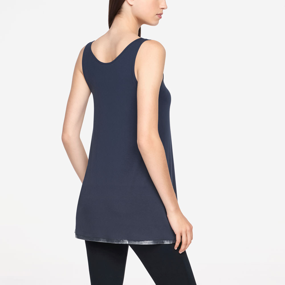 Sarah Pacini SLEEVELESS TOP - SILVER LINING Back view