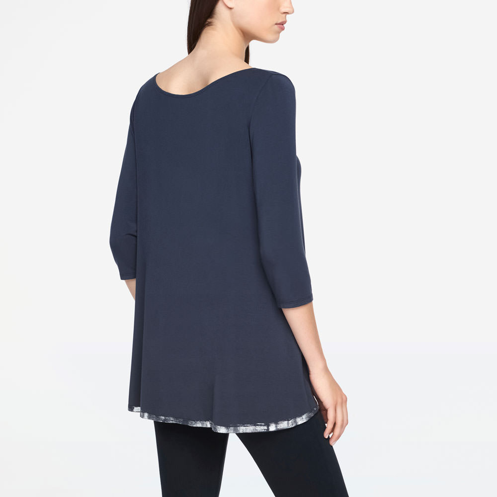 Sarah Pacini TOP - SILVER LINING Back view