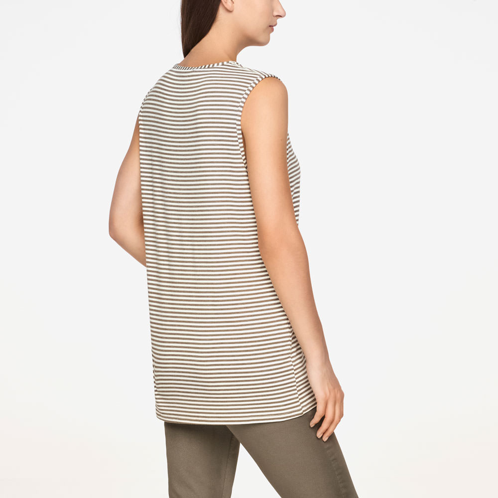Sarah Pacini STRIPED TOP - SLEEVELESS Back view
