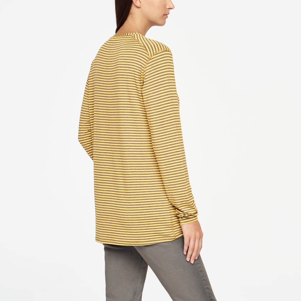 Sarah Pacini STRIPED TOP - FULL SLEEVES Back view