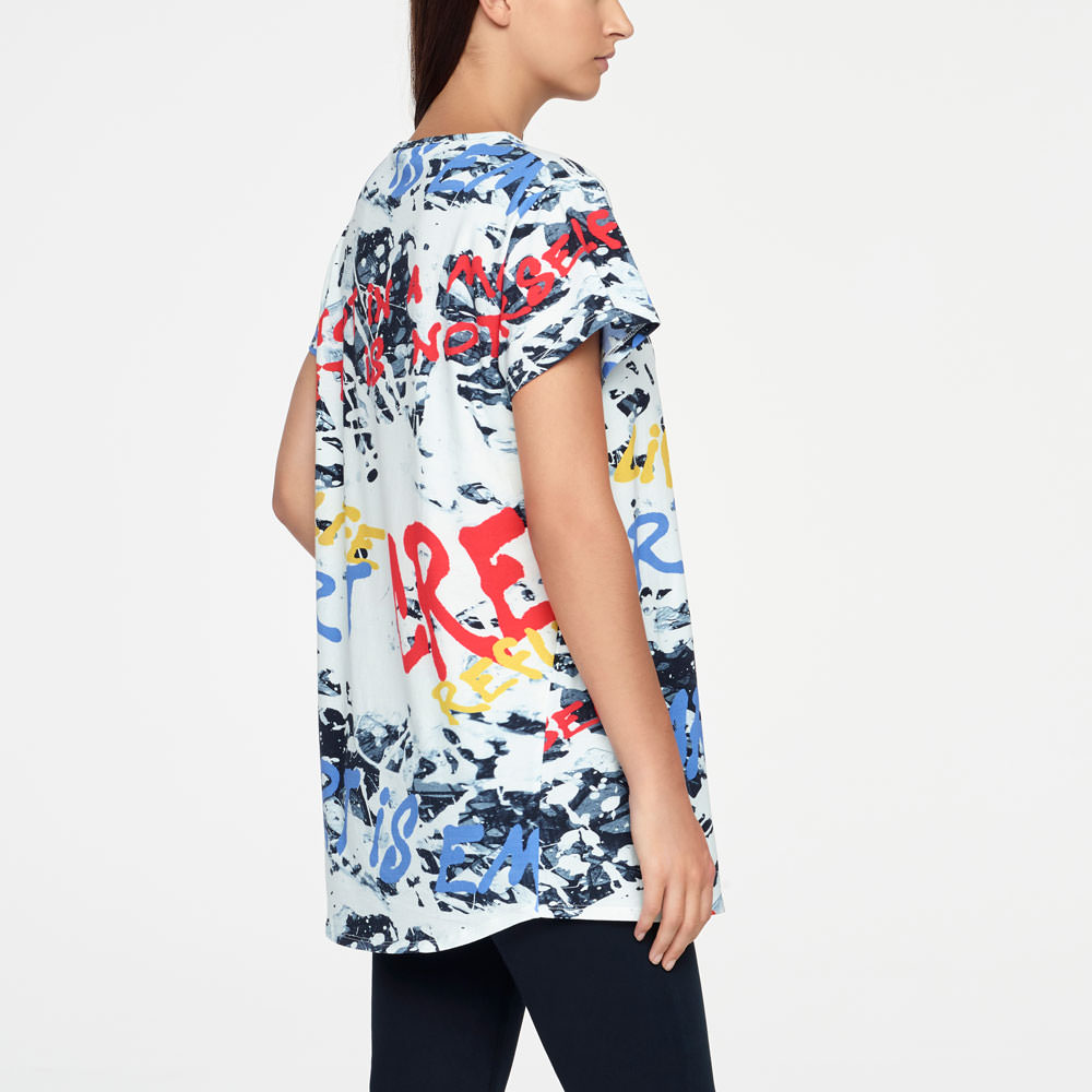 Sarah Pacini T-SHIRT - STREET ART Back view