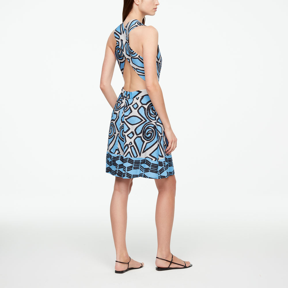 Sarah Pacini GRAPHIC DRESS - KNEE-LENGTH Back view