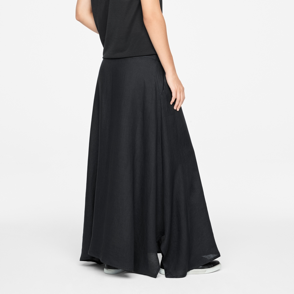 Sarah Pacini LINEN SKIRT - DRAWSTRING Back view