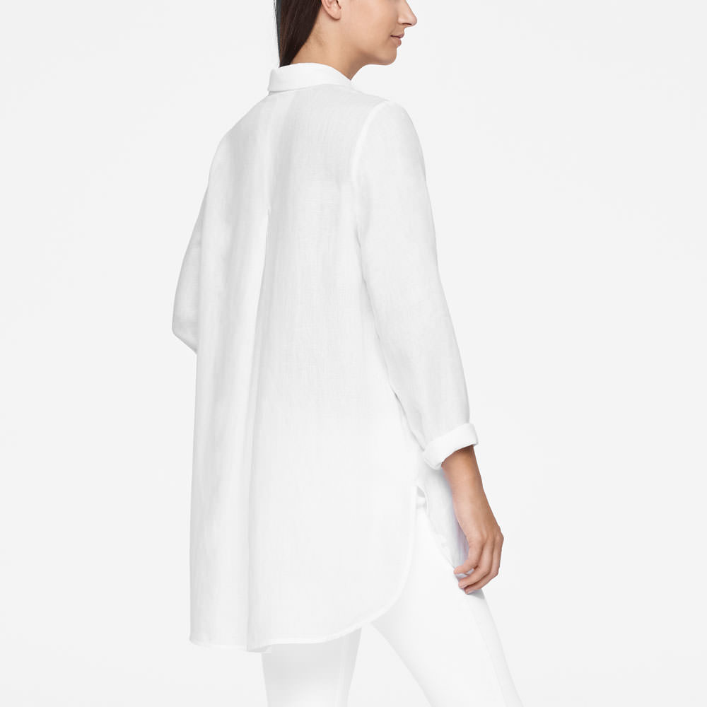 Sarah Pacini LIGHT LINEN SHIRT Back view