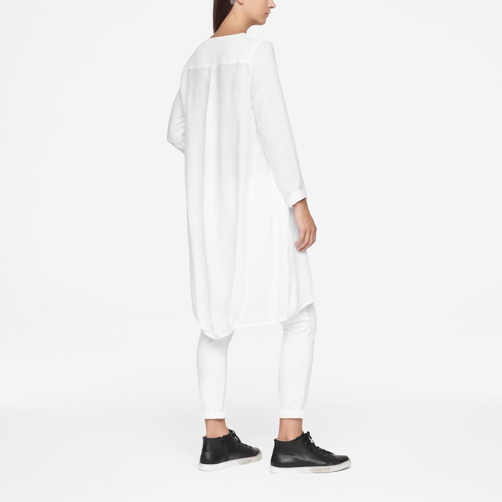 Sarah Pacini LINEN DRESS - KNEE-LENGTH Back view