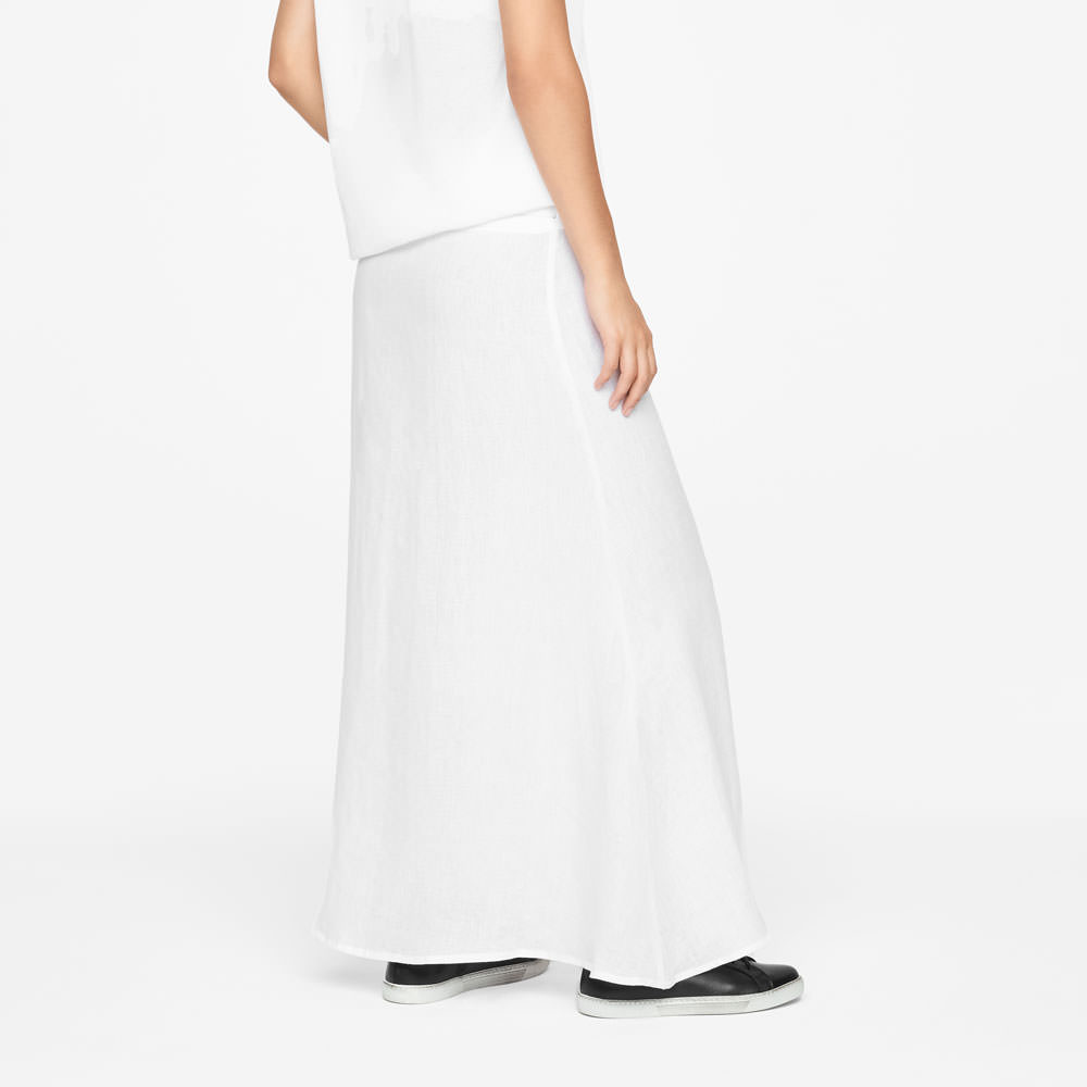 Sarah Pacini LINEN WRAP SKIRT Back view