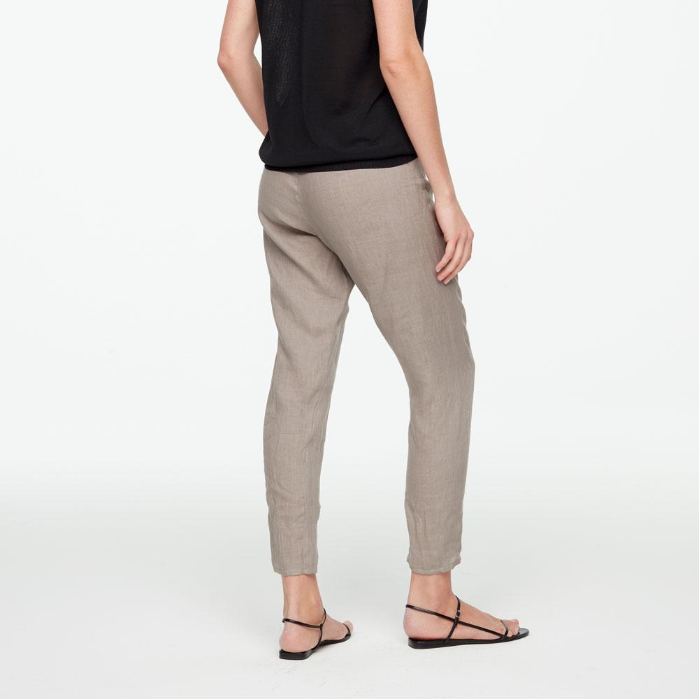 Sarah Pacini LINEN PANTS - TAPERED HEM Back view