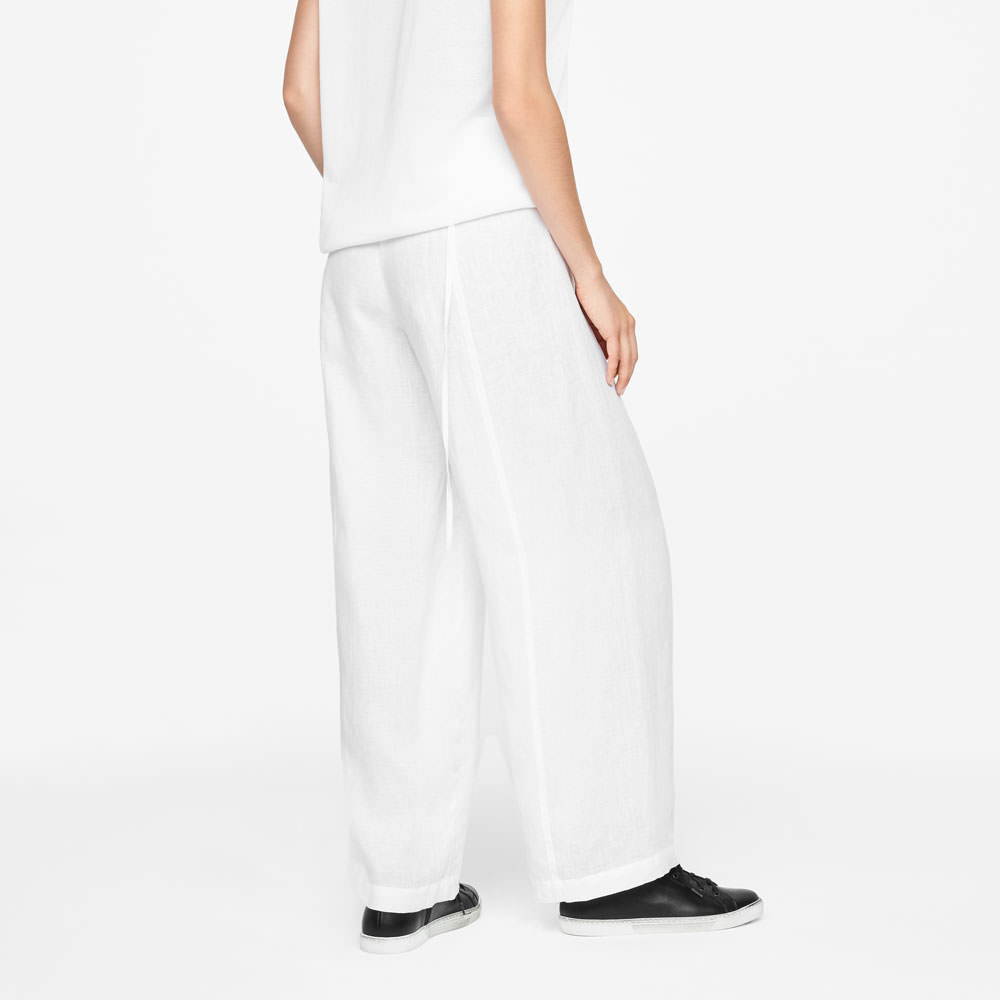 Sarah Pacini LINEN PANTS - WIDE LEG Back view