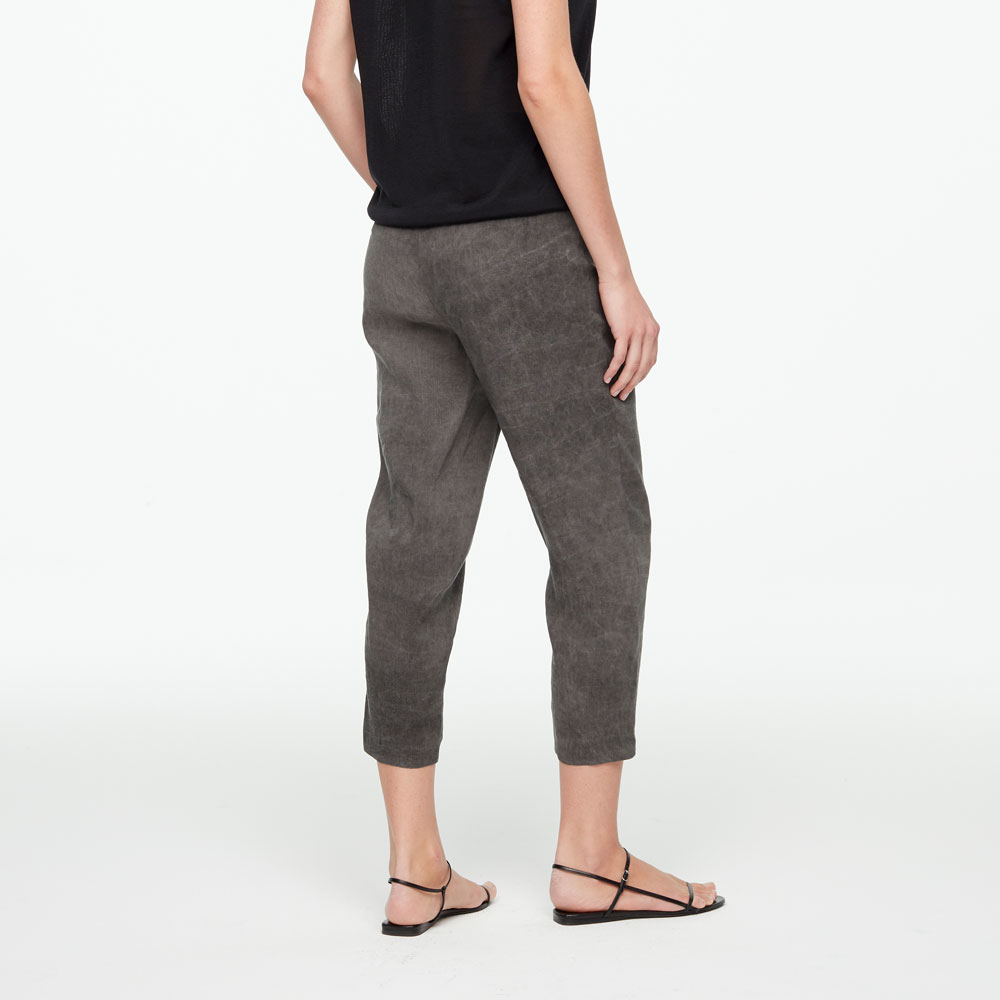 Sarah Pacini LINEN PANTS - DRAWSTRING Back view