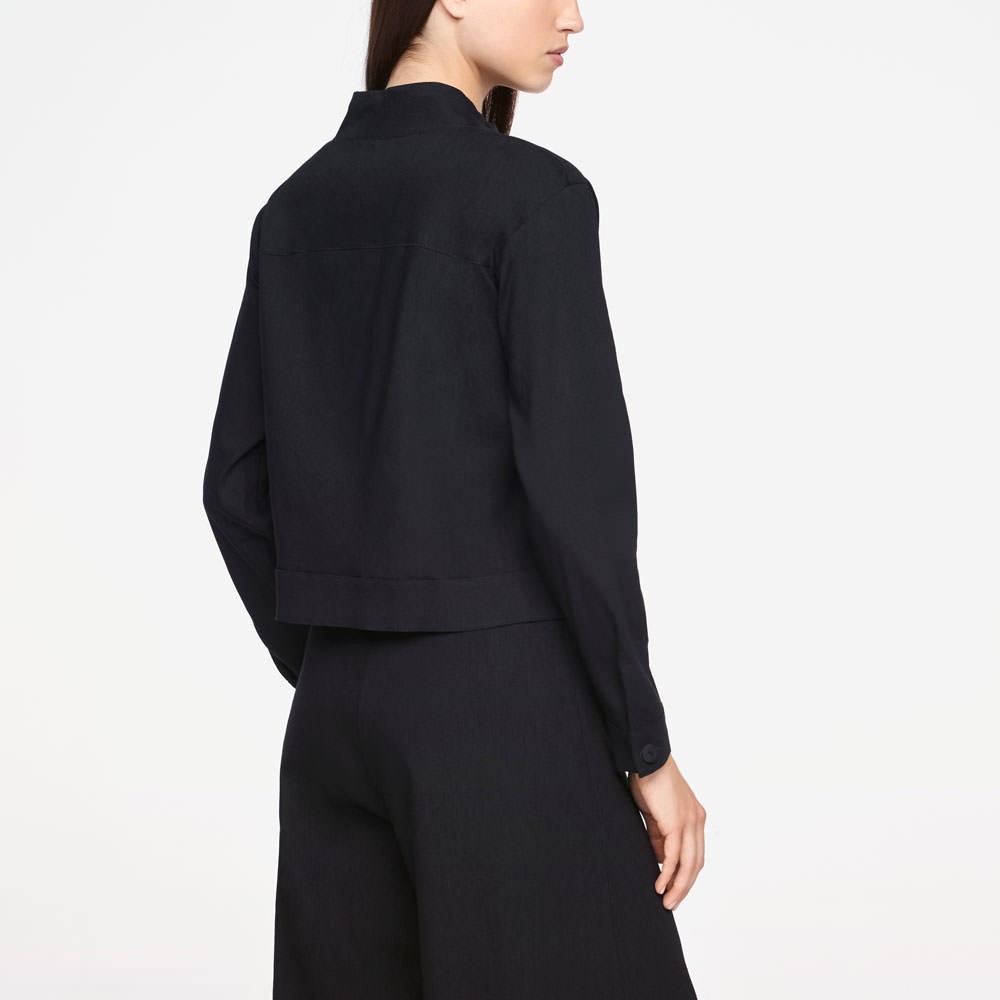 Sarah Pacini LINEN JACKET - CROPPED Back view
